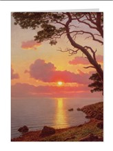 CALME DE SOIR  COTE D'AZUR (NOTECARD PACK CONTAINING SIX CARDS OF THE SAME DESIGN)