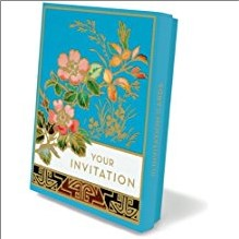 WILD ROSE INVITION NOTELET - Country of Origin GB.