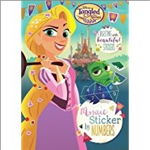 DISNEY TANGLED | MOSAIC STICKER BY NUMBERS
