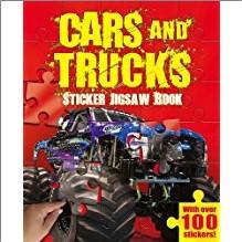 CARS & TRUCKS | STICKER JIGSAW BOOK