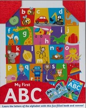 MY FIRST A B C | Learn The Letters of the Alphabet with this Fun-Filled Book and Canvas!