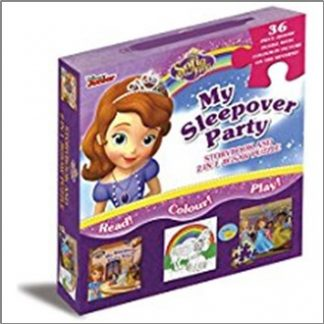 DISNEY SOFIA THE FIRST | MY SLEEPOVER PARTY | STORYBOOK AND 2-IN-1 JIGSAW PUZZLE