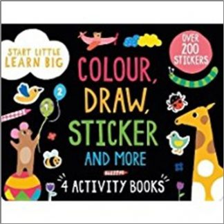 COLOUR, DRAW, STICKER AND MORE 4 ACTIVITY BOOKS PACK