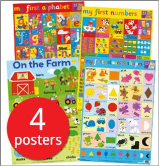 MY FIRST WALL CHART PACK (AGES 3+)