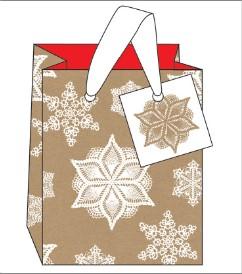 SNOWFLAKE SMALL GIFT BAG