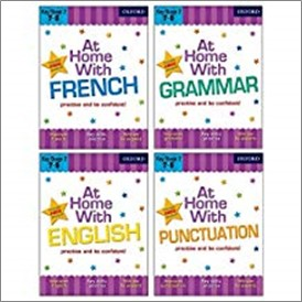 AT HOME WITH ENGLISH/FRENCH/GRAMMAR/PUNCTUATION (FOUR PACK)