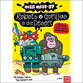 MEGA MASH UP | ROBOTS V GORILLAS IN THE DESERT