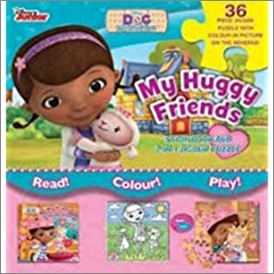 DISNEY DOC MCSTUFFINS | MY HUGGY FRIENDS STORY BOOK AND 2 IN 1 JIGSAW PUZZLE