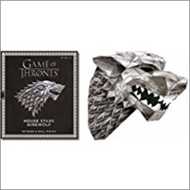 GAME OF THRONES | HOUSE STARK DIREWOLF 3D MASK & WALLMOUNT