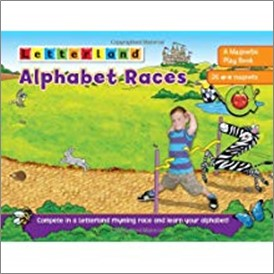 LETTERLAND | ALPHABET RACES | A MAGNETIC PLAY BOOK