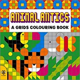 ANIMAL ANTICS | A GRIDS COLOURING BOOK