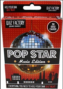QUIZ FACTORY GAME CARDS | POP STAR MUSIC EDITION