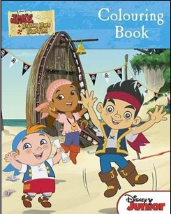 DISNEY JAKE AND THE NEVERLAND PIRATES | COLOURING BOOK