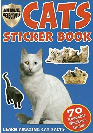 ANIMAL DETECTIVES   CATS STICKER BOOK