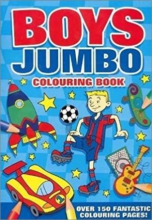 BOYS JUMBO COLOURING BOOK