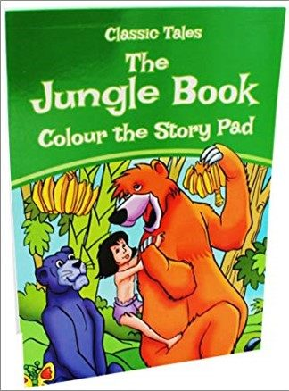 CLASSIC TALES | THE JUNGLE BOOK | COLOUR THE STORY PAD