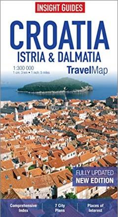 INSIGHT GUIDES | CROATIA ISTRIA & DALMATIA | TRAVEL MAP