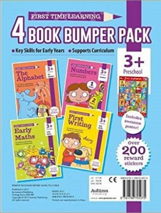FIRST TIME LEARNING   4 BOOK BUMPER PACK   3+ PRESCHOOL