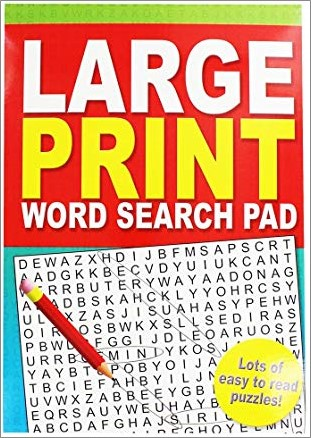 LARGE PRINT WORD SEARCH PAD