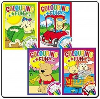 COLOURING FUN ASSORTED TITLES X4
