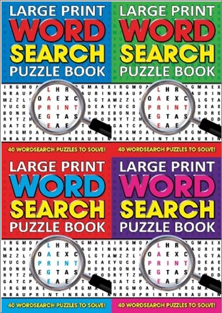 graphic regarding Large Print Word Search Printable titled Substantial PRINT Term Look PUZZLE Ebook Moonraker Guides