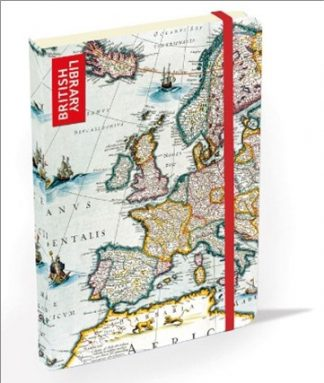 HARDCOVER LINED JOURNAL | BRITISH LIBRARY - MAP OF EUROPE
