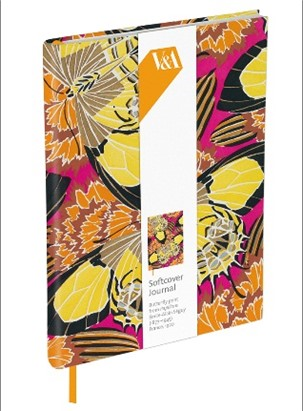 SOFTCOVER LINED JOURNAL | V&A - BUTTERFLY PRINT