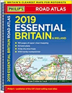 PHILIP'S | 2019 ESSENTIAL BRITAIN & IRELAND ROAD ATLAS