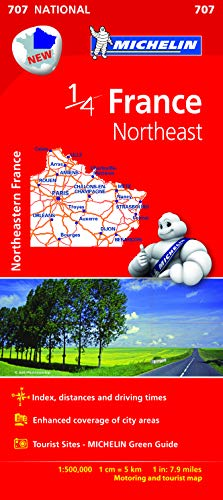 MICHELIN | 1/4 MAP | FRANCE NORTHEAST