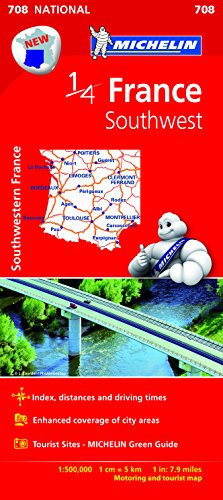 MICHELIN | 1/4 MAP | FRANCE SOUTHWEST