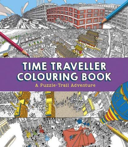 TIME TRAVELLER COLOURING BOOK | A Puzzle-Trail Adventure