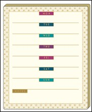 WEEKLY PLANNER - GLOSS GOLD FOIL DETAIL